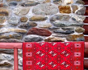 Antique Persian Rug - Circa.1930 - Classical  Turkoman Style - 4x5 Carpet-Estate Antique