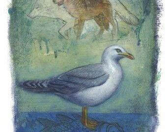 Gull [original painting]