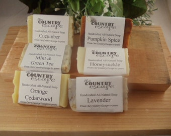 Soap Sample Pack -You Pick Scents- Mix and Match 6 Sample Bars - Great for Travel - Handcrafted - Organic - Vegan - Natural Soap