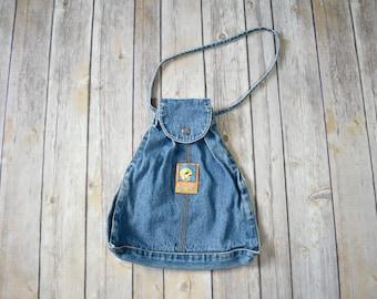 90s TWEETY BIRD Denim Handbag // 1990s Jean Purse // Looney Tunes Cartoon // Small Bag Womens Girls Streetwear Style Fashion Pouch Unique