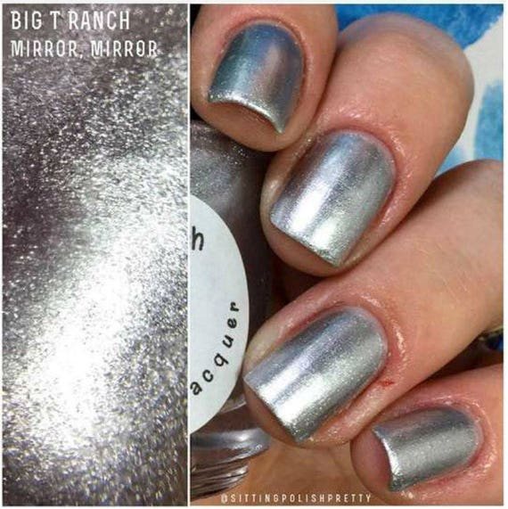 Metallic Nail Polish Silver: Silver Metallic Aluminum Nail Polish Mirror