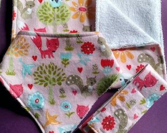 Pink Woodland Baby Bundle