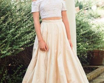 "Satin Circle Skirt ""Blaire"""