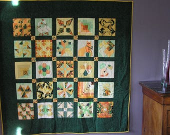 Large green patchwork