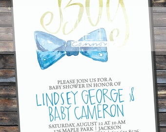 INVITATION Baby Boy Shower Invitation