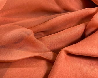 "100% Silk Chiffon - 43""w Orange"