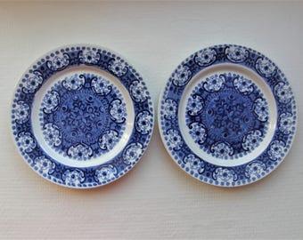 Arabia Finland: Three ALI Series Bread Plates Designed By Kaj Franck, Pattern By Raija Uosikkinen