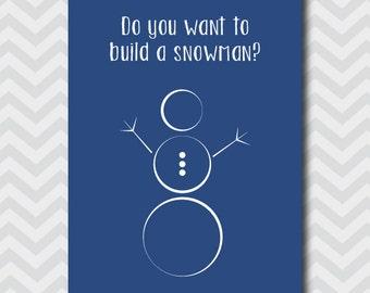 Vuoi costruire un pupazzo di neve stampabile