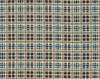 Denyse Schmidt PWDS134 Winter Walk Flannel Plaid Stream Cotton Fabric By Yd