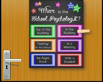 Where is the School Psychologist Door Sign, School Psychologist Gift, Back to School Psychologist Office Decor, Psychology Sign