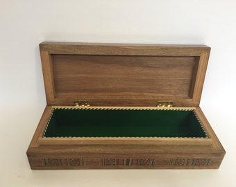Pen Box, Desk Organizer, Office Accessories, Wooden Pen Box, Desk Accessories,  Pen Holder, Office Decor, Wood Desk Decor, Office Gift