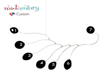 CUSTOM Midcentury Art Mobile - YOU Choose Colors & Size - Cool Kinetic Hanging Sculpture Retro Atomic