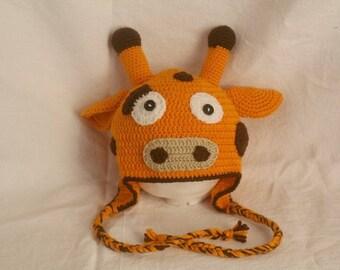 Size 2-4 years giraffe Hat handmade