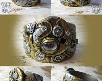 Steampunk Time Machine Cuff Bracelet