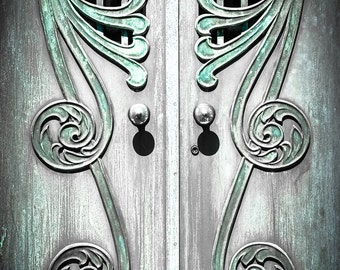 Savannah Photography, Goth, Bonaventure Cemetery, Georgia, Door, Historic, Vintage, Architecture, Art Prints, Aged, Ornate, Turquoise, Aqua
