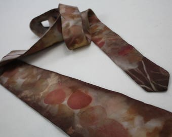 Naturally Dyed Silk Tie