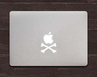 Apple Crossbones Vinyl MacBook Decal BAS-0130