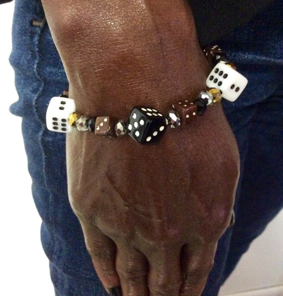 The Vegas Stretch Bracelet (Black and Gold)
