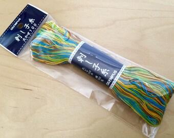 Olympus #171 Japanese sashiko thread variegated spring meadow 100 meter skien