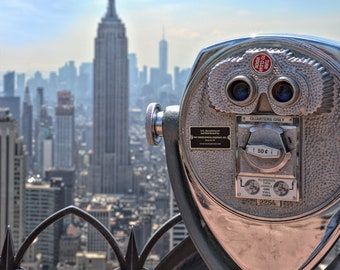 "New York Photograph, Empire State Building, Color Photography, NYC Photo, Wall Art, Art Print, Cityscape, WTC, NYC Decor, ""Enjoy The View"""