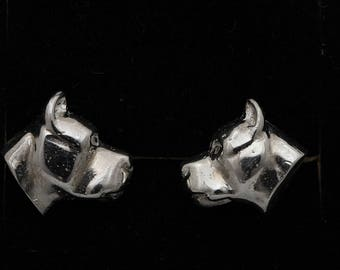Vakkancs Dogo Argentino solid sterling silver earrings