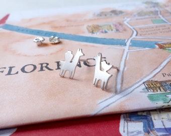 Tiny Llama Stud Earrings, Titicaca