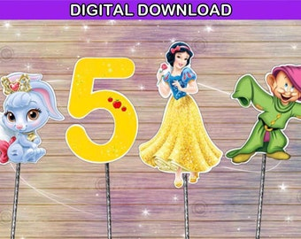 Snow white centerpiece - princess cake topper - birthday decoration - digital download