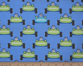 "Michael Miller Les Monsieurs ""Faster"" fabric by designer Tamara Kate.  MM008"