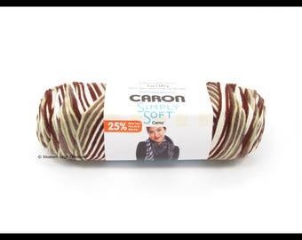 Caron Simply Soft Camo Yarn, Woodland Camo, 5 oz