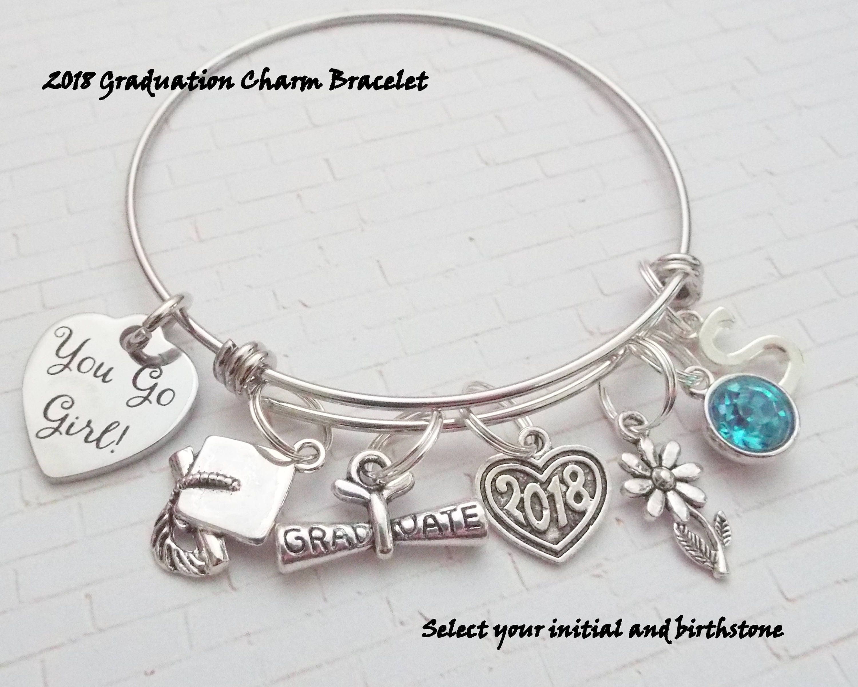 with lola have trust a jewelryd ro cap graduation charm product bracelet phd me i
