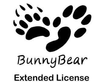 BunnyBear Extended License for Digital Papers and Graphics
