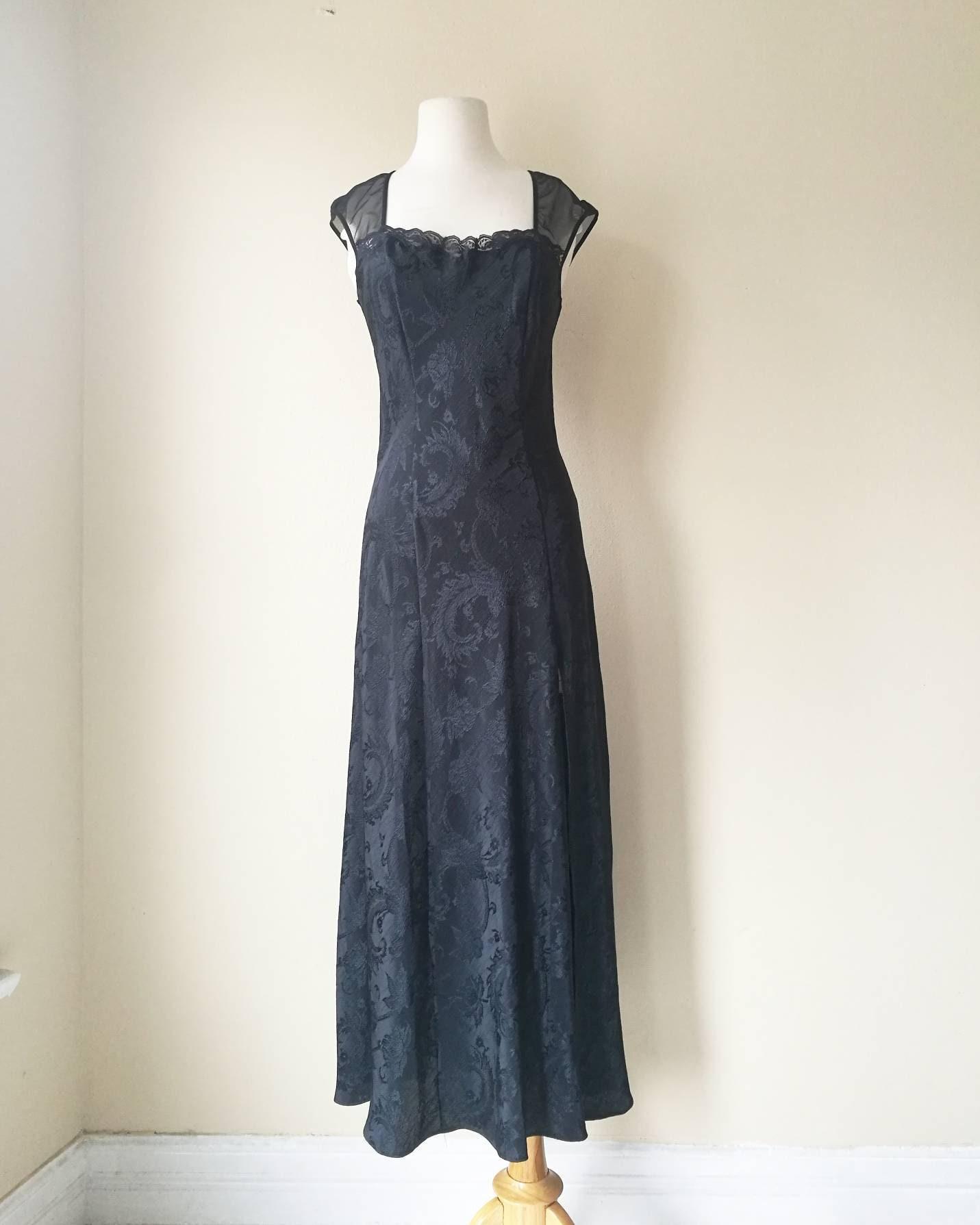 Vintage Victoria Secret black night gown black maxi dress