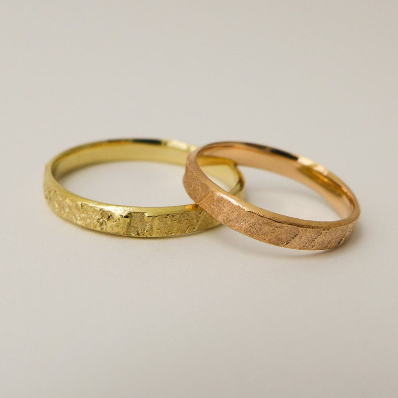 rings bands wedding thin band blushingblonde with diamonds gold