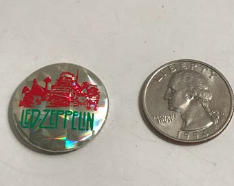 LED ZEPPELIN swan song vintage pin button badge pinback