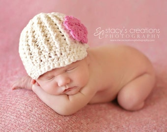 Baby Girl Hat, Baby Girl Coming Home Hat, Baby Girl Clothing, Newborn Girl Hat, Newborn Hat, Baby Hat, Baby Newsboy Cap, Pink, Baby Beanie