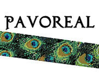 Beaded Peacock, Peacock Bracelet Pattern, Peyote Pattern, Delica Pattern, Peacock Feathers, Seed Bead Pattern, Boho Bead Pattern, Pattern