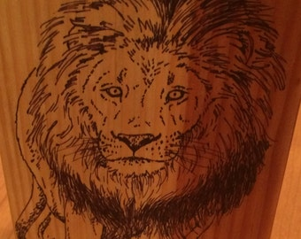 Wood Lion Bookend - Maneaters of Tsavo/Ghost and the Darkness