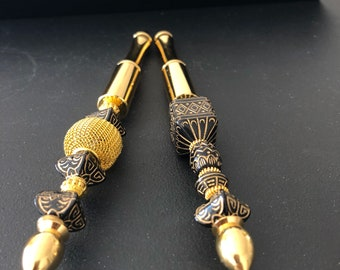 Beadable Pen, One of a kind - Eygptian Gold & Black