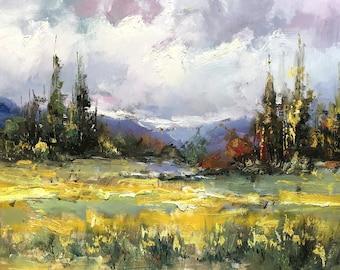 """Yuanjian Wang 230 27x55"""" landscape"""