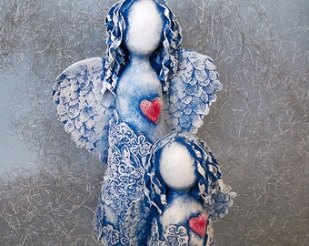 "Art dolls Sculpture ""Motherhood"" OOAK"