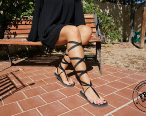 Tie laces pairs Sandal of Lace Interchangeable Two Sandal Sandal Sandal Gladiator Vegan Up Up ATqO0