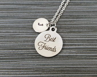 Best Friends Necklace - BFF Necklace - Personalized Necklace - Custom Initial Necklace - Best Friend Gift - Friendship Necklace