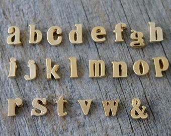 Add a letter initial to my necklace - Add on initial - gold or silver alphabet letter.