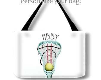 Personalized Tote-Girls Lacrosse Tote-Weekend Bag-Custom Sports Bag-Adjustable Tote Bag-Shoulder Tote Bag-Lacrosse Bag-Travel Tote-LaX Tote