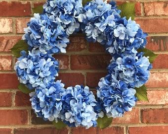 Hydrangea Wreath, All Year Round Wreath, Spring Wreath, Summer Wreath