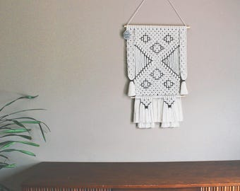 SOLD FREE SHIPPING>>>>>Handmade 100% Cotton Macrame Wall Hanging - Ready to Ship