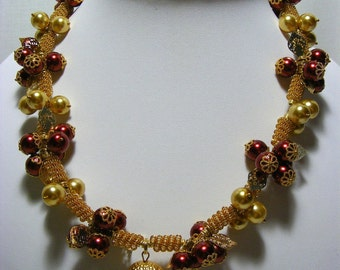 Acorn with Berries Necklace