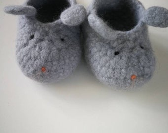 Baby Booty felt mouse. Baby Booties. Mouse.