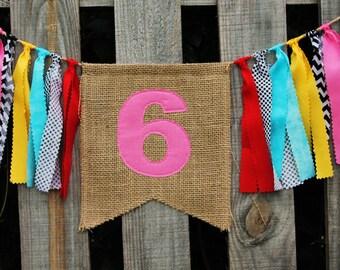 Custom Burlap Banner, Birthday Bunting Banner, You pick colors/theme, Birthday Photo Prop, PEANUTS theme