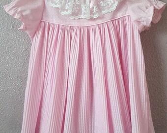 12-18 month Vintage Pink Baby Girl Dress